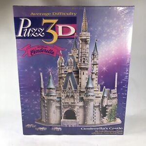 Vintage Milton Bradley Disney Cinderella's Castle Puzz3D Puzzle 4387 Sealed 1995
