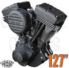 """127"""" Ultima Engine """"Black Out"""" El Bruto Complete Motor for Harley Evo Engine"""