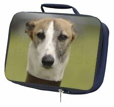 Whippet Dog Navy Insulated School Lunch Box Bag, AD-WH2LBN