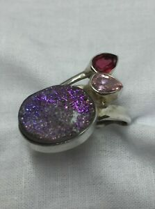 Sterling Silver and Druzy Quartz Ring