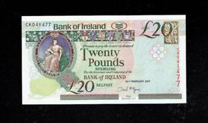 NORTHERN IRELAND £10 /& £5 Pounds 2017 Bank of Ireland Last 3 Matching x 2 UNC
