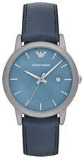 Emporio Armani EA7 Men's Classic Blue Leather And Silicone Strap Watch - AR1972