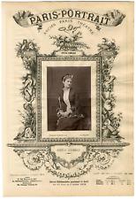 Lemercier et Cie, Paris-Portrait, Cécile Mézéray, soprano Vintage Albumen Print,