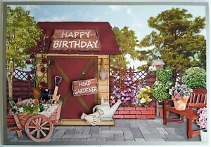 Personalised card / Garden Shed. / Layered 3D effect / BIRTHDAY / RETIREMENT etc