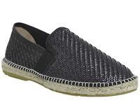 Mens Poste Felice Espadrilles Black Woven Casual Shoes