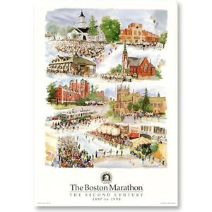 1998 Boston Marathon Poster - Artist Signed