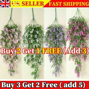 Artificial Fake Hanging Flower Vine No Basket Plant Admiralty Wall Decor Outdoor