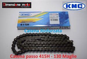 Catena Rinforzata KMC Passo 415 - 130 Maglie per DERBI Dirt Kid 12 50cc dal 2005