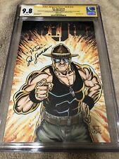 G.I. Joe 1 CGC 3XSS 9.8 Sgt Slaughter Original art sketch Remus remark