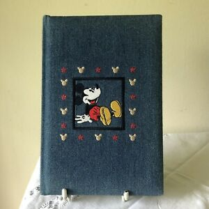 Disney mickey mouse - Embroidered Denim - address book -