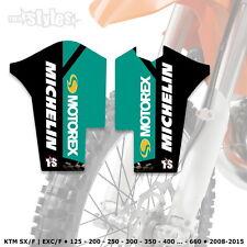 KTM MOTOREX FORCELLA PROTEZIONI DECORO FORK decals | SXF EXCF SMR 125-530 2008-2015