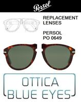 Lenti di Ricambio PERSOL PO 0649 filtri Replacement Lenses 31 0714 GREEN  649