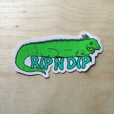 RipNDip vinyl sticker decal bumper laptop skateboard lizard iguana reptile pet