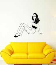 Wall Decal Sexy Girl Beautiful Woman Posing Sitting Hot Vinyl Stickers (ed214)