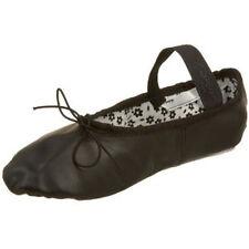 Capezio Girl's Daisy Full Sole Black Leather Ballet Slippers - 13 Medium