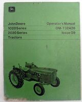 VINTAGE JOHN DEERE OPERATOR'S MANUAL 1020 & 2020 SERIES TRACTORS