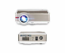 EUG 1080p LED Home Cinema Projector HD and 100'' Portable Projection Screen 16 9