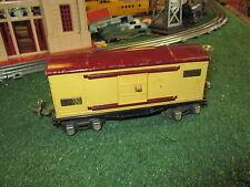 LIONEL PREWAR 655 TIN PLATE BOX  CAR  VG PLUS ORIG COND  1934-42