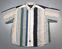 90s Vintage CATALINA Mens 90s Stripe Shirt XL | Short Sleeve