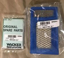 Oem Wacker Rammer Filter And Pre-filter Set Pn: 5000157193