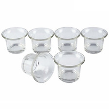 Shxstore Clear Chunky Glass Lip Votive Candle Holders Tealight Votive Cups For 6