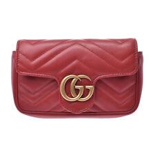 GUCCI GG Marmont Mini ChainShoulder Bag Red 476433 Bag 806500011757000