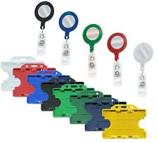 Id Retractable Badge Holder Reel Amp Double Sided Id Card Badge Holder Free Pampp