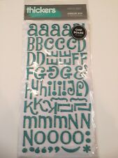 American Crafts Glitter Chipboard Thickers Jewelry Box Letter Teal Sticker
