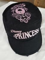 Disney Princess Carriage Cadet Style Hat Blk & Pink embroidered
