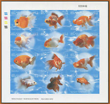 LAOS N°1465/1476** feuillet Non dentelé, poissons, 2002 sheet Imperf.Sc#1555 MNH