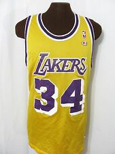 vintage LA LAKERS SHAQUILLE O'NEAL BASKETBALL JERSEY 90s CHAMPION t-shirt 52 XXL