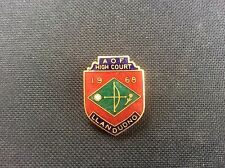 1968 AOF Ancient Order of Foresters Llandudno High Court Enamel Badge VGC 1960s