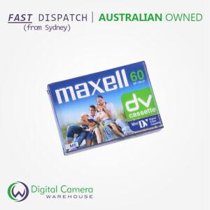 Maxell Mini DV Digital Video Cassette Tape - 60 minute - Pack of 3 - Dust-Tight