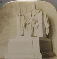 Keystone Stereoview Statue of Lincoln Memorial, Dc From 1930s Scenic America Set
