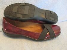 Women's Shoes NATURAL SOLE by NATURALIZER Size 9 M RED PATENT BALLET FLAT EXC