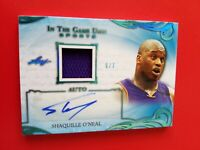 SHAQ SHAQUILLE O'NEAL CERTIFIED AUTOGRAPH AUTO GAME USED JERSEY CARD #7 LEAF ITG