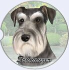 Schnauzer Car Coaster Absorbent Keep Cup Holder Dry Stoneware New Dog Uncropped