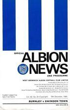 Burnley Away Team League Cup Final Football Programmes