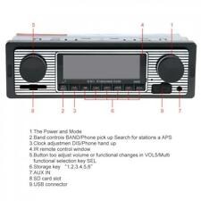 Bluetooth Retro Car Radio MP3 Player Stereo USB AUX Classic Car Stereo Audio 12V