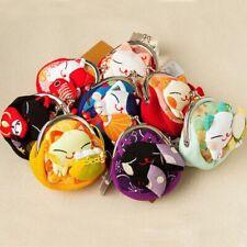 Japanese Style Cartoon Kimono Lucky Cat Purse Coin Bag Fabric Wallet Pouch