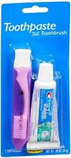 2 Pack Crest Trial & Travel Size Toothpaste + Toothbrush Kit 0.85 Ounce Tube