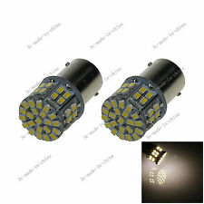2X Warm white 1156 G18 Ba15s 50 LED 1206 Turn Signal Rear Light Bulb Lamp 20092