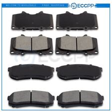 4 Front And 4 Rear Ceramic Brake Pads For GX460 GX470 4Runner FJ Cruiser Sequoia