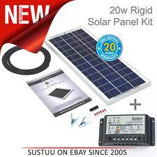 Solar Technology 20w Rigide Panneau Solaire Kit + 10 Ah Contrôleur │ Usage