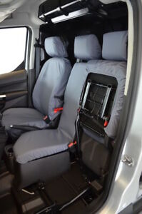 Grey Tailored Waterproof Seat Covers Front 3 for Ford Transit Connect 2014-2018