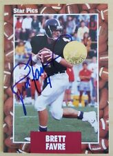 1991 Star Pics #65 BRETT FAVRE RC Rookie ON FRONT AUTO : Packers Hall of Fame QB