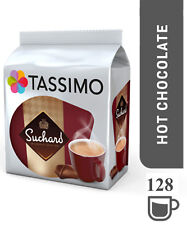 TASSIMO Suchard Hot Chocolate Capsules Refills Pods T-Disc Pack of 8, 128 Drinks