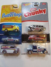 HOT WHEELS POP CULTURE SET OF 6 NESTLE DAIRY DELIVERY CONVOY CHEVY BAD CARD