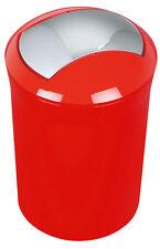 Spirella Sydney Rot Abfalleimer Mülleimer Eimer 5 Liter Swiss Design Red