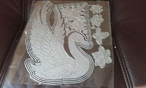 Metal Cutting Dies, Swan with Flower - fits with carnation crafts - Serene Swan